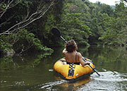 Kayaking in Belize Jungle