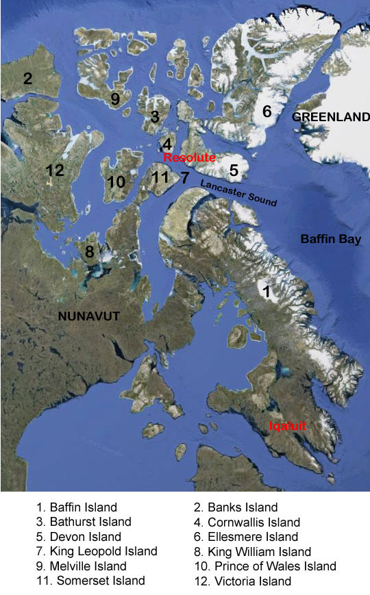 map of the canadian arctic archipelago
